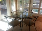 Breakfast nook seating with lots of light