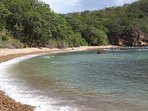 Secluded beach at bottom of our hill
