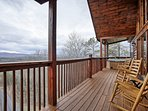 Have a glass of wine  looking of the spectular mts. or relax in the hot tub
