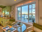 Mariner's Dream: small but efficient kitchen and breakfast nook.