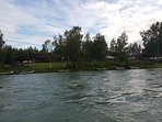 Swiftwater Suites sits on the banks of the Kenai River