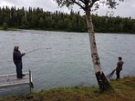 we offer world class salmon and trout fishing  right out your front door!