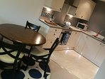 open plan dining in Whitby Gardens Apartment