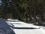 cross country ski trails access right behind the condo