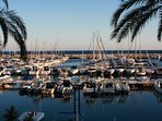 Moraira's fabulous marina:restaurants, bars,and boat excursions. A perfect place to watch the sunset