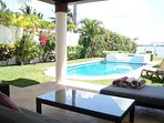 Rest and Relax on comfortable terrace with warm caribbean breazes