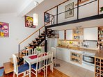 Living/dining/stairs