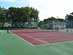 Our tennis court shared by only 18 units, so it is almost always available.