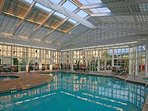 The indoor pool is the perfect place for the kids to cool off after a long day at nearby Dollywood!