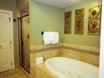 Master Bathroom features jacuzzi tub