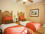 Guest room #2 features twin beds