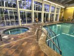 Take a swim or relax in the hot tub after a long day in the mountains!