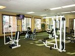 Stay in shape at Riverstone's fitness room!
