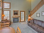 Feel the warmth of the gas fireplace while you watch the flat-screen cable TV.