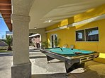 Challenge your travel mates to a game of pool.