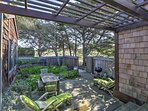 Gather in the rear courtyard for an outdoor lunch.
