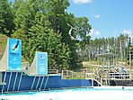 Ski Jumpers - Olympic Training Facility in Lake Placid