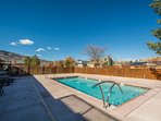 The newly renovated condo features a brand new pool, open during the summertime, and a year-round hot tub!
