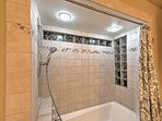 Rinse off the day of adventure in this luxurious shower.