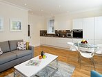 Open plan lounge with beautiful modern furnishings