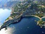 Foto aerea baia di taormina