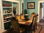 Dinner table seats 6