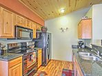 With a fully equipped kitchen, this cabin makes it easy to enjoy meals at home.