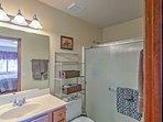 The master bedroom offers an en-suite bathroom!
