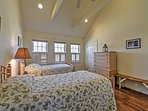 This bedroom has 2 twin beds.