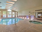 Enjoy shared amenities provided by the 'Dolce by the Lakes' condominiums like a indoor/outdoor pool.