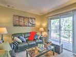 Open up the sliding glass doors to let the warm breeze travel throughout the condo.