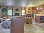 This condominium offers a community clubhouse with flat screen TV and fully equipped kitchen for guests to use.