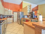 The chef of the group will delight in the fully-equipped kitchen, complete with tile counter tops and stainless steel...