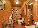 There are 3 bathrooms in this spacious home.
