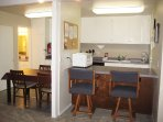 Breakfast Bar, Kitchen and Dining Room