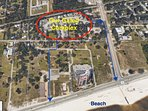 Our gated complex is 1 block walking distance to the beach