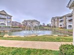 Stroll through the community grounds, complete with water fountains and well-maintained land.