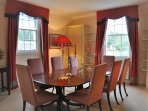 Dining Room. Table extends to seat 12