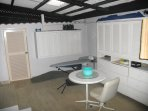 Laundry room, ironing  facilities and available space for cleaning stuff