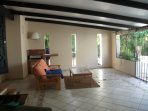 Front enclosed terrace, barbecue and entertainment area