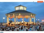 Free Friday, Saturday and Sunday night concerts happen at the bandstand on Rehoboth Ave.