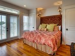 2nd master bedroom - king bed - second floor of main house