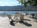 Shared decking at Christina Campers