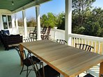 New Deck Dining Room Table, Wonderful!