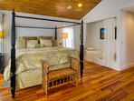 Main master bedroom - King bed & twin bed in nook - second floor of main house