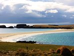 St Ninians Isle and lovely tombolo beach.  Under 10 miles from Brekka Lodge.