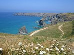 Walking the Southwest coastal path from Bedruthan Steps