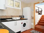 the kitchen, fully equipped, ideal for self catering