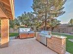 Step outside to the backyard oasis!