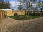 Private and secluded garden area,perfect for children and dogs.